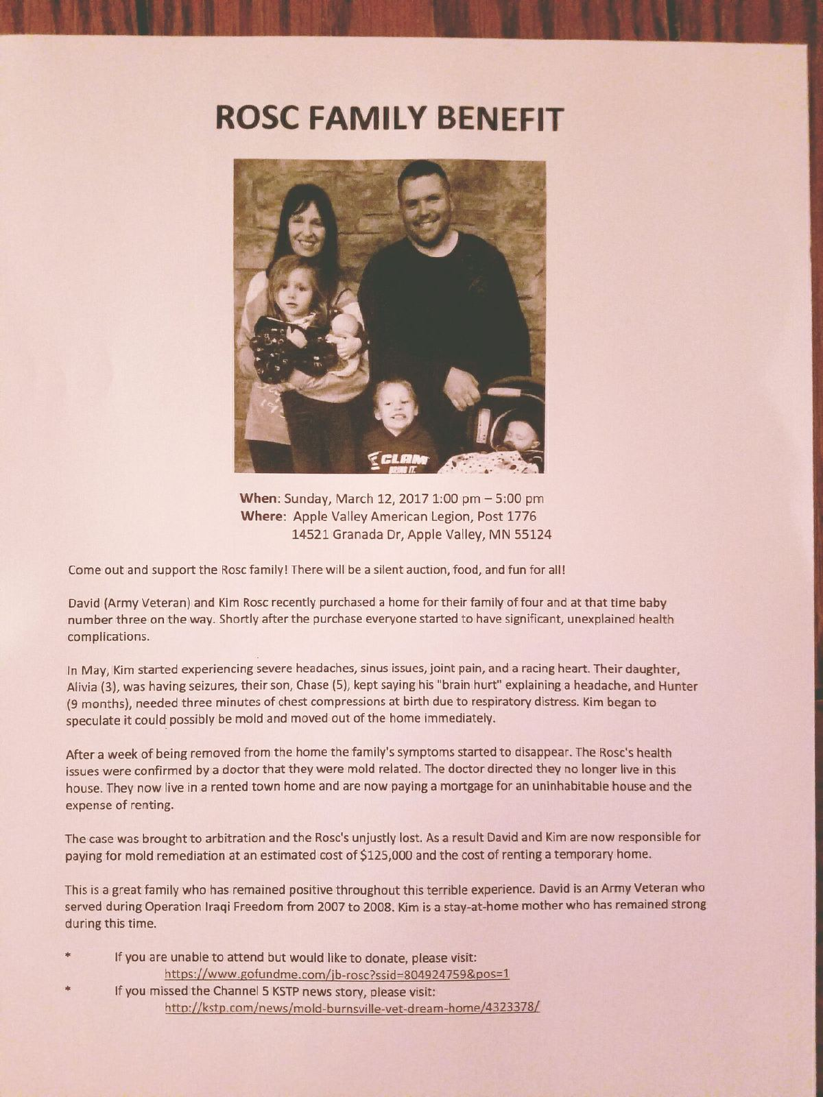 Fundraiser by Chad Haugen : Help Rosc Family Move Back Home!