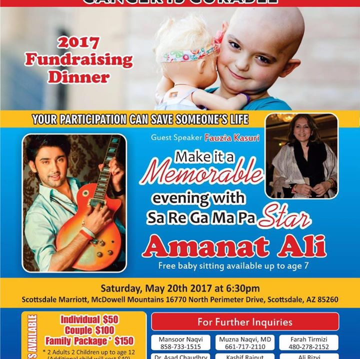 Fundraiser for Imran Khan Cancer Appeal by Mansoor Naqvi