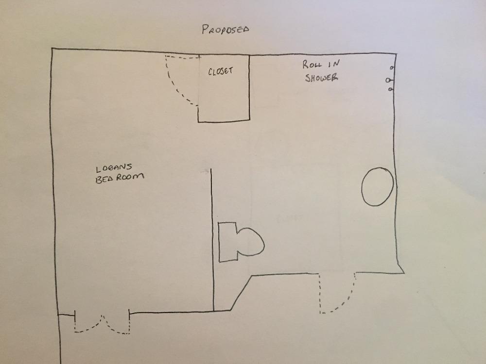 Bathroom Renovations Logan fundraiserregan aj logan : logan's bedroom/bathroom renovation