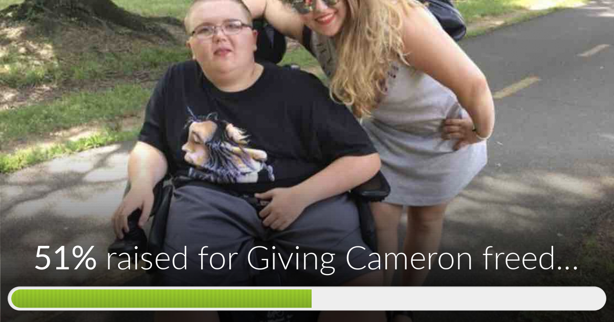 6b400e4d6e1 Giving Cameron freedom has reached 51% of its goal. Thanks to Christa